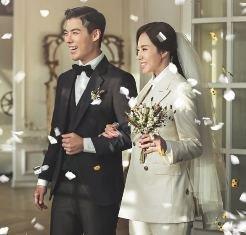 Свадебные фото звездной пары:  Кан Нам и Ли Сан Хва